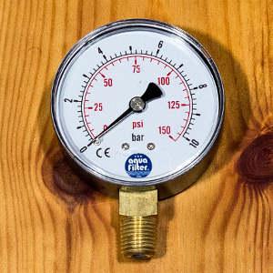 Manometer für die Druck Messung in der Osmoseanlage