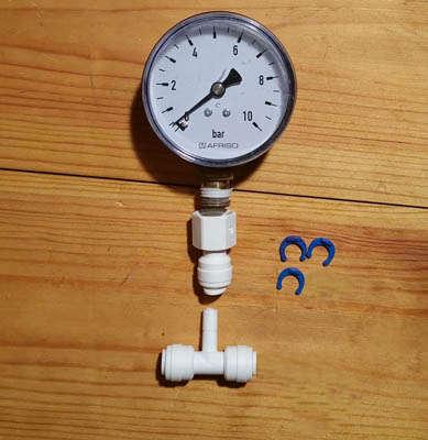 Manometer für Druckerhöhungspumpe
